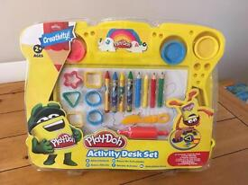 Brand new play doh activity desk set