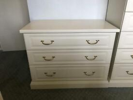 White 3 Drawer Chest Of Drawers