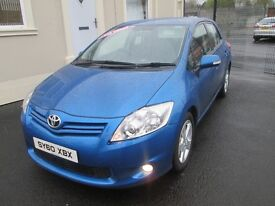 2010 TOYOTA AURIS 1.4 DIESEL 1 LADY OWNER FULL SERVICE HISTORY