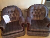 2 Sofa armchairs £50 for set