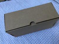 Medium Flat Pack Die cut Brown Cardboard boxes - 33cm wide x 8cm high x 11.5 cm deep