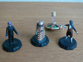 Doctor Who Micro Universe Collectable Rare Dalek Sec Hybrid 3 Mini Figure Set & Spinner, MINT