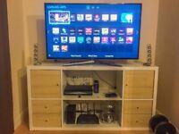 "Samsung 48"" Full HD Smart 3D LED TV, HARMAN KARDON Soundsticks 2, IKEA KALLAX TV Stand"