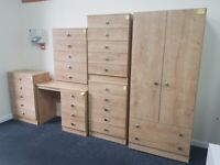 WARDROBES DRAWERS BEDSIDES DRESSERS FULLY ASSEMBLED(NEW)