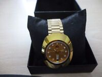 beautiful men's rado diastar day/date autiomatic watch with matching rado strap,excellent..