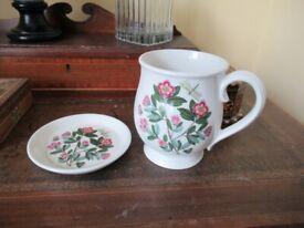 Large Portmerion Mug&Saucer Set