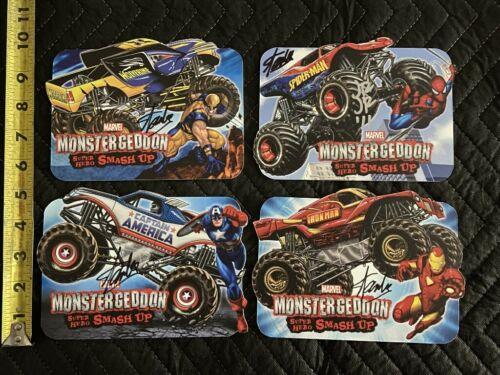 Marvel Monstergeddon Stan Lee and John Romita JR autograph Monster Jam trucks