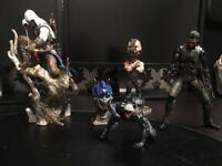 Set of action figures