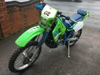 1989 Kawasaki KDX 200 good condition for 30 year old classic.
