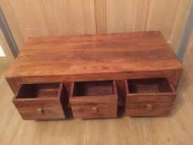 Solid oak draws