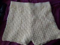 Miss selfridge baige shorts