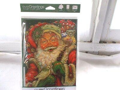 New Ever Greetings Card & Garden Yard Flag Gift Santa Claus