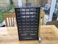 43 Plastic Drawer Metal Storage Unit Organiser