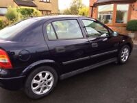 Vauxall Astra Club, 5 Door Hatch Back, 1600cc, Petrol, Manual Gearbox.