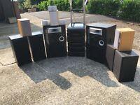 Kenwood stacking system inc top Dec jamo kenwood Panasonic speakers