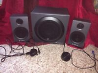 Like-New Logitech Speakers and Subwoofer