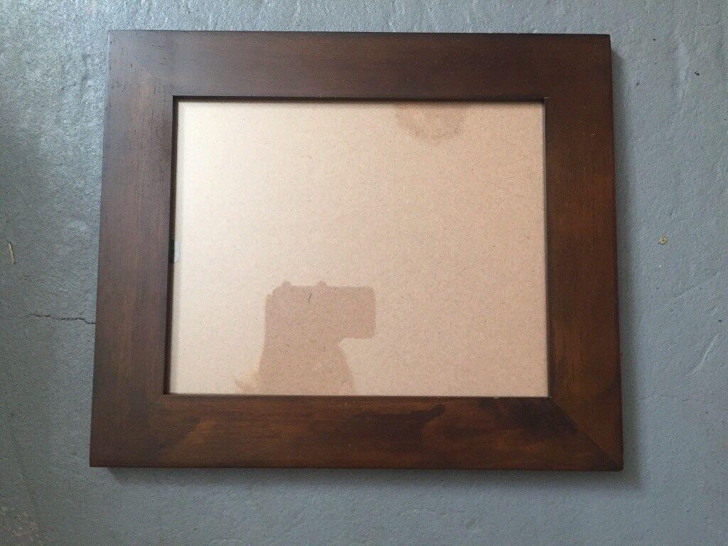 Dark wood picture frame