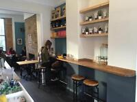 Cafe looking to hire a cleaner.