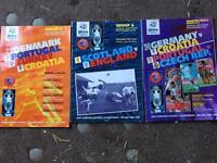 Selection of Euro 96 Programmes