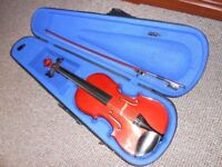 Violin Hans Joseph Hauer Full 4/4 size in case with bow excellent condition