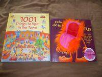 Calm Down Boris Hand Puppet Book & 1001 things to spot book