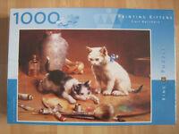 Brand New 'Painting Kittens' Jigsaw by Carl Reichert 1000 pieces