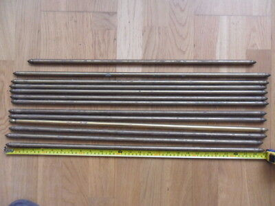 13 antique brass stair rods finial end old stair carpet rods 12 =27