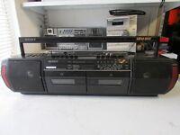 SONY RADIO CASSETTE RECORDER SONY CFS DW30L GHETTOBLASTER BOOMBOX £20