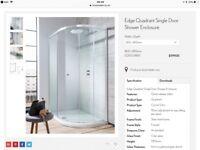 Crosswater Edge 800mm Quadrant single door shower cubicle silver