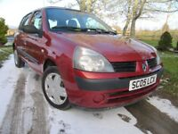 Renault Clio 1.2 16V Expression only 50,000 MILES ~ 1 Lady Owner ~ VGC ~ 5 door ~ only £1495