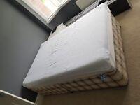 Three quarter divan bed and mattress