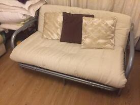 190cmx148cm Sofabed with cream futon