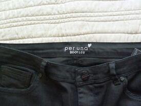 Marks and Spencer Ladies Per Una black bootleg jeans