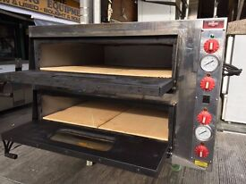 "SERVICED PIZZA OVEN 2 DECK 8 X 13"" TAKE AWAY CATERING COMMERCIAL KITCHEN PIZZA BREAD SHOP BAR"