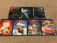 3D Disney and Other Blu-Ray (bluray) - Mint Condition
