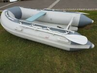 Inflatable dinghy, boat, 270 airdeck, tender, as new