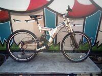 Reflex RUSTLER T6 Monster Aluminium 24 Speed Full Suspension Disk Brake Bike Serviced