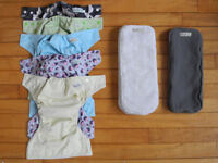 Reusable nappies x5 Baba+Boo Birth to Potty Pocket nappies
