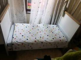 Mothercare cot and bed 2in1