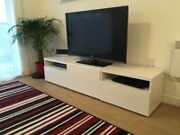BESTA TV bench glass/white perfect conditions