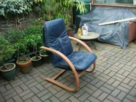 Vintage bent wood chair in very good condition