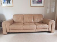 3 seater and 2 seater sofa italian leather