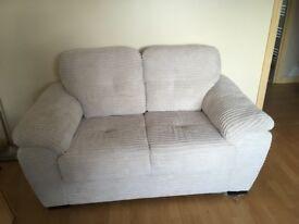 2 seater sofa (cream, material)