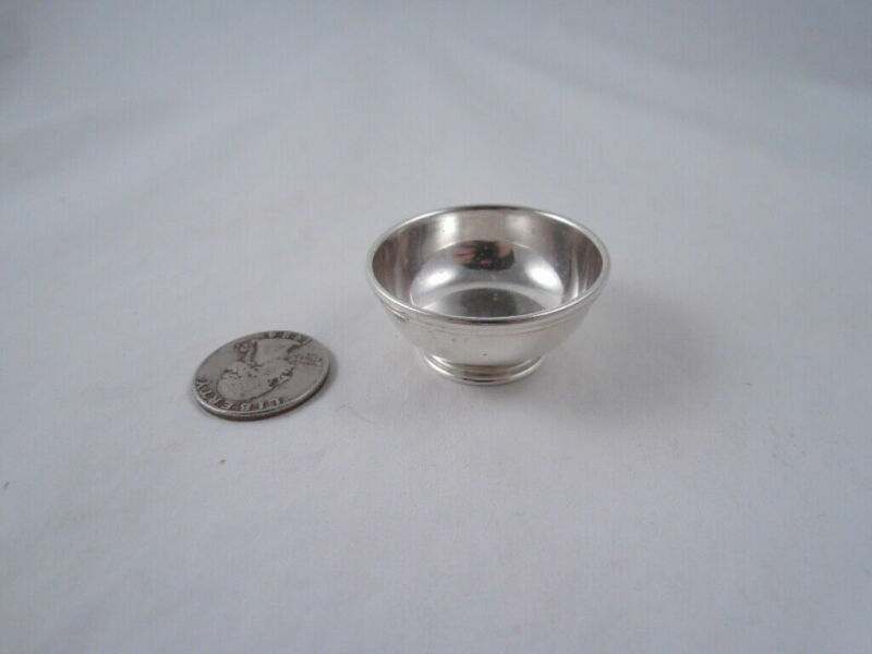 WILLIAM B MEYERS STERLING SILVER REVERE BOWL MINIATURE DOLLHOUSE
