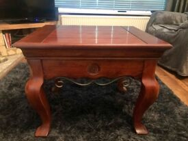 A Pair of large solid wood coffee tables.
