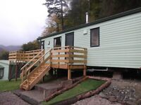 Amazing value 2bed static holiday home, on the fabulous Loch Eck