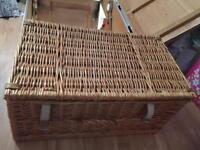 Large hamper basket ideal for storage fortnum and mason