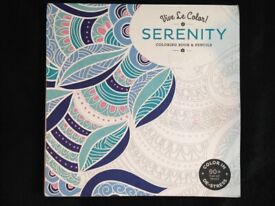 SERENITY ADULTS COLORING IN BOOK. NEW. NO PENCILS.