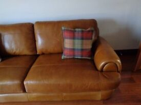 4 x brand new 18 inch 46cms square highland check tweed cushions