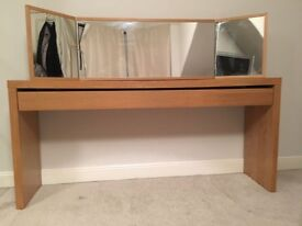 Dressing table, mirror & chair